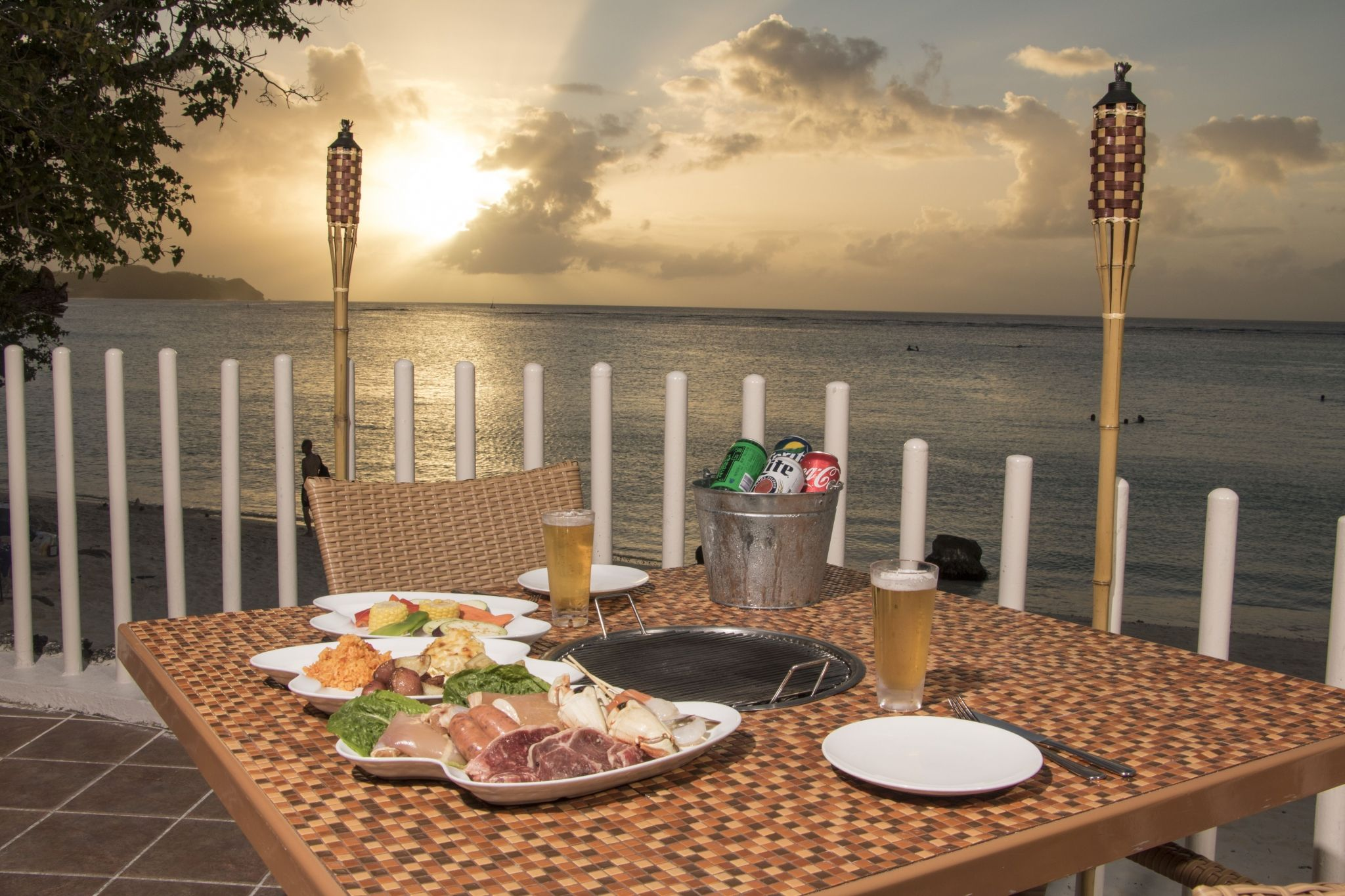 Starlight BBQ with magnificent views of Guam's iconic evening skies.